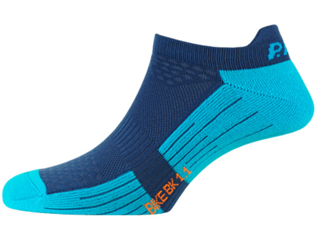 P.A.C. BK 1.1 Bike Footie Zip Socks Men neon blue
